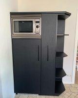 Zwart hout-look keukenwrap
